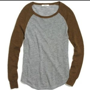 Madewell Baseball Raglan Sweater Size XS